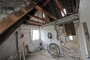Dachgeschoss - Baustelle